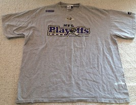 Baltimore Ravens NFL Football Playoffs 2000 Puma Gray T-Shirt Men's XL - $24.99