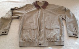 L.L. Bean Khaki Tan Flight Jacket Men's Large - $89.99