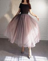Rose Sparkle Skirt Long Tutu Glitter Skirt Rose Gold Sequin Skirt Floor Length image 5