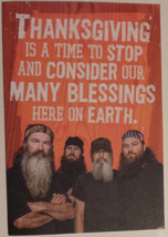 "Greeting Thanksgiving Card Duck Dynasty ""Thanksgiving is a time to stop ... - $3.99"