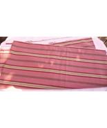 "2 1/2 YDS X 56"" W Dino Exclusive Screen Print Stripe Fabric TERRACOTTA 4064 - $15.99"