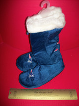 Football NFL Women Clothes 7/8 Medium New England Patriots Slipper Boot Pair Set - $23.74