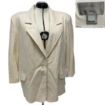 Made in USA Nordstrom Ivory One Button Merino Wool Blazer Coat Women's s... - $39.60