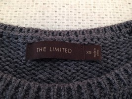 The Limited Short Sleeve Sweater Navy/Gray Women's XS image 6