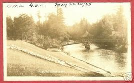 Wolfville AuSable MI Wooden Bridge 1933 RP Postcard BJs - $15.00