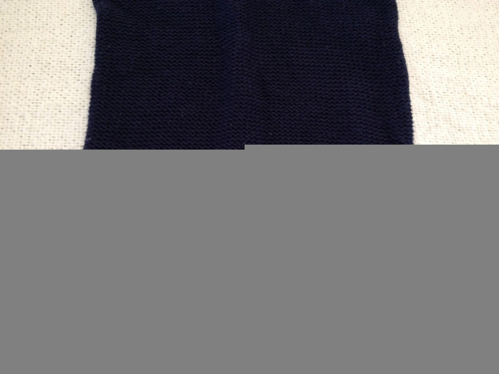 The Limited Short Sleeve Sweater Navy/Gray Women's XS image 4