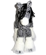 Stuffed Plush Clydesdale Draft Horse Gray White and Black Crocheted - $38.00