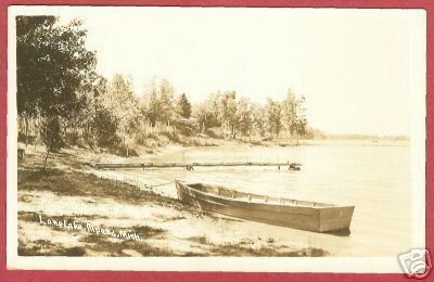 Primary image for ALPENA MICHIGAN Long Lake Boat MI 1942 RPPC