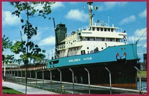Primary image for FREIGHTER GOLDEN HIND Great Lakes Ship Soo Michigan MI