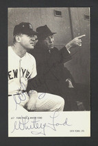 WHITEY FORD SIGNED AUTO AUTOGRAPH 3X5 BLACK & WHITE #17 NICE!! - $29.99
