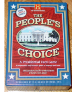 PEOPLES CHOICE PRESIDENTIAL CARD GAME HISTORY CHANNEL 2004 US GAMES COMPLE - $15.00