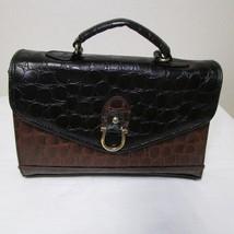 Vintage Brown And Black Envelope Style Alligator Print Small Purse image 5