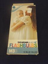 Pack of 12 Sylvania M3B Blue Dot Blue Flashbulbs - $9.79