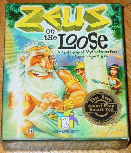 Primary image for ZEUS ON THE LOOSE CARD GAME OF MYSTIC PROPORTIONS GAME 2007 GAMEWRIGHT COMPLETE