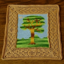 Tree and Bird Landscape Thread Crochet Tapestry... - $20.00