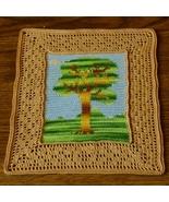 Tree and Bird Landscape Thread Crochet Tapestry... - $20.00