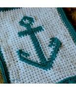 Boat Anchor Crochet Tapestry Art Decor Fringed ... - $15.00