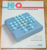 Hi Q Solitaire Strategy Game Handy Portable Case 1984 Ideal Complete Excellent - $15.00