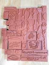 Garden Blossoms 30 Piece Rubber Stamps In Clear... - $10.65