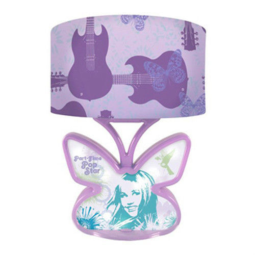 DISNEY Hannah Montana Table LAMP w/ SCULPTED Butterfly-shaped Base & Music NIB