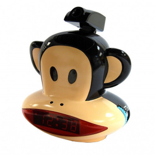 See Time on Wall Ceiling / Projection Alarm Clock w/AM FM Snooze Paul Frank NIB