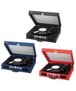Belt Driven Turntable Record LP Player w/ Built-in Speakers AUX Input RC... - $114.88
