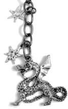 Dragon Charm and Stars Key Chain or Charm Dangle with Winged Dragon - $12.00
