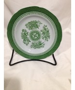 Spode Bread and Butter Plate Green and White Fitzhugh - $7.83