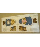 Fabric Length Uncut Priscilla and her Dog Fluff Dolls to Sew and Stuff - $9.75