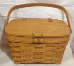 Longaberger Christmas 1995 Small Purse Basket w/ Protector - $34.30