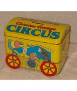 Curious George Yellow Candy Tin / Rolling Circus Bank Toy - $9.75