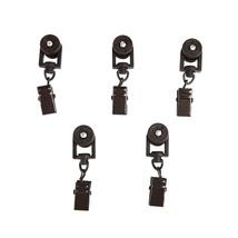 Rod Desyne Home Window Decorative 10 Sliders for CH track Traverse Rods - Cocoa - $35.26
