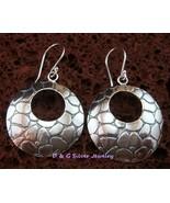 Sterling Silver Round Fancy Earrings SE-187-DG - $16.99