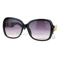 Designer Fashion Womens Sunglasses Square Frame Floral Rhinestones - $8.95