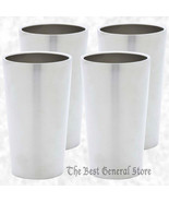 4pc Double Wall 13oz Stainless Steel Cold Tumbler Set Drinking Beverage ... - $36.99