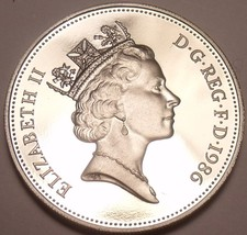 Scarce Cameo Proof Great Britain 1986 5- New Pence~Proofs Are Best Coins~Free Sh - $4.94