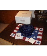 Longaberger Pottery Proudly American Eagle 1.5 Quart Covered Casserole - $43.99