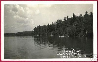 CEDAR MICHIGAN Lake Leelanau RPPC MI