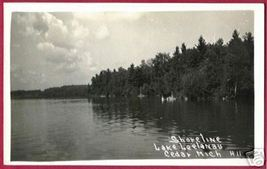 CEDAR MICHIGAN Lake Leelanau RPPC MI - $14.99