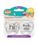 Hi & Rock Star Pacifiers- 0-6M, Unisex, Expressions Collection, Ulubulu - $8.99
