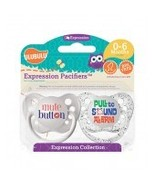 Mute Button & Pull to Sound Alarm Pacifiers-0-6M, Unisex, Expressions Co... - $8.99