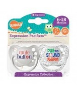 Mute Button & Pull to Sound Alarm Pacifiers 6-18M, Unisex, Expression Co... - $8.99