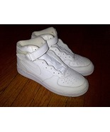 2002 Nike Air Force One 1 AF1 Mid Midtop Uptowns Leather ALL White 11 wi... - $99.99