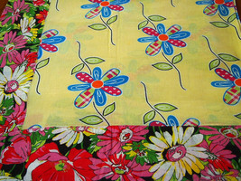 Floral Chita Tablecloth in Yellow and Pink - $30.00
