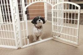 Dog Playpen Pets Gate Fence Indoor Outdoor Kennel House Portable Housebr... - $122.07
