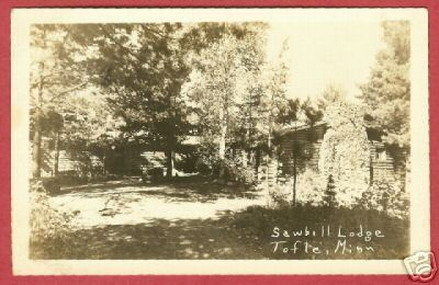 Primary image for Tofte MN Sawbill Lodge 1946 RPPC Postcard BJs