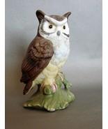 Porcelain Lefton  Owl on Branch - $6.29