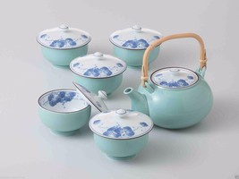 [SUPER SALE] Arita-yaki Porcelain : Grape - Kyusu Tea pot & 5 tea cup Se... - $175.77