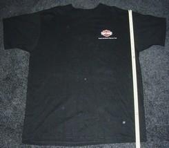 NEW Harley Davidson Chrome VISA XL Extra Large Black Tee Shirt Two Sided - $22.99