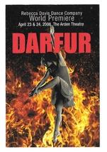 Modern Advertising Postcard Darfur Rebecca Davis Dance Company Philadelp... - $7.99